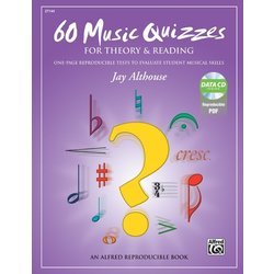 60 Music Quizzes for Theory and Reading w/Enhanced CD