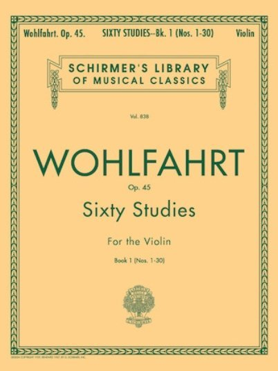 View larger image of 60 Studies, Op.45 (Wohlfahrt) Book 1 (No.1-30)
