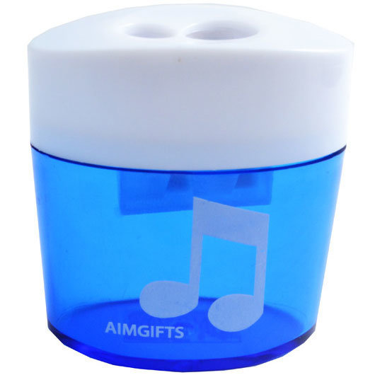 View larger image of 8th Note Dual Pencil Sharpener - Blue