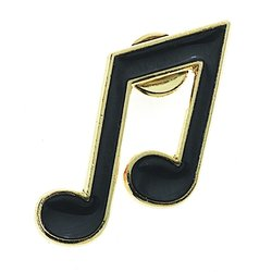 8th Note Pin