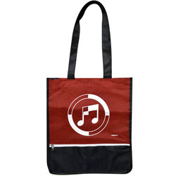 8th Note Tote Bag - Red/Black