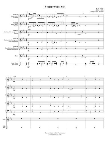 View larger image of Abide With Me - (Flex Woodwind Ensemble)