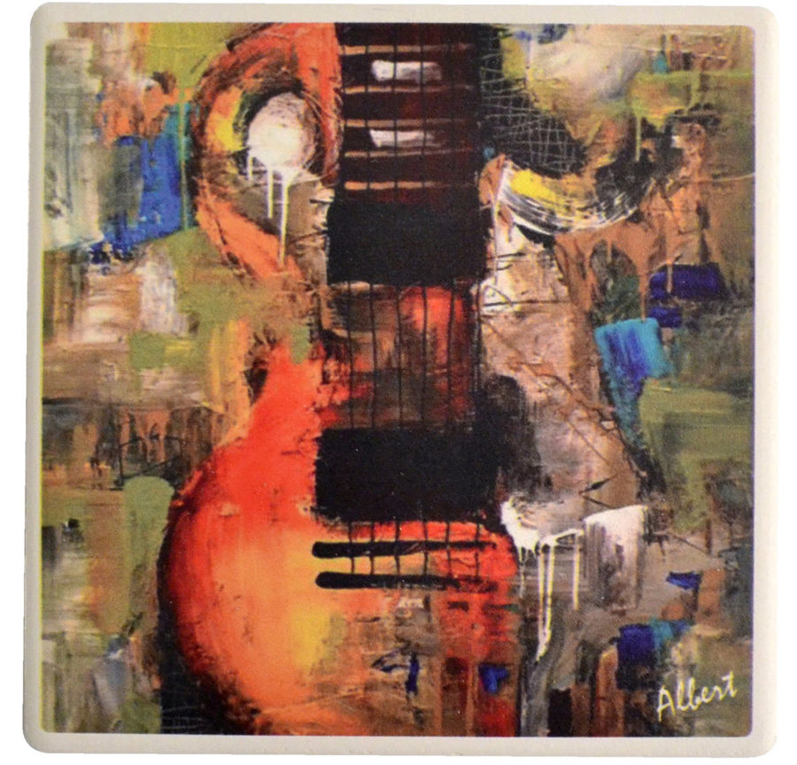 View larger image of Abstract Guitar Stone Coaster