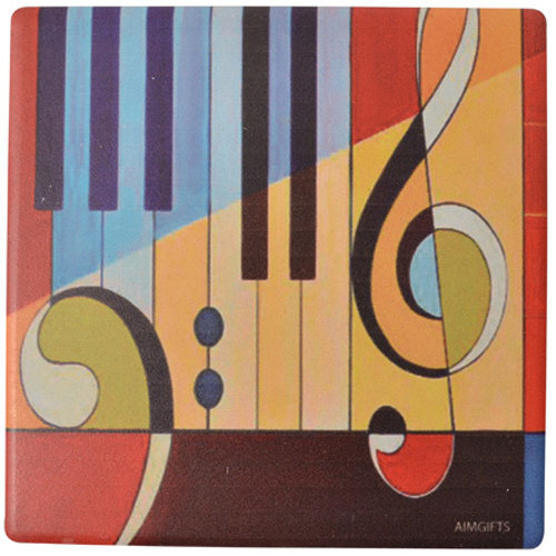 View larger image of Abstract Piano Art Abstract Coaster - 4-1/4x4-1/4