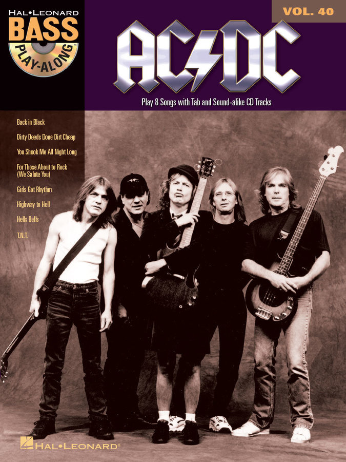 View larger image of AC/DC - Bass Play-Along Volume 40 w/Online Audio