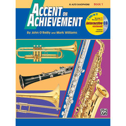 Accent on Achievement Book 1 with CD - Alto Saxophone