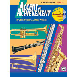 Accent on Achievement Book 1 with CD - Tenor Saxophone