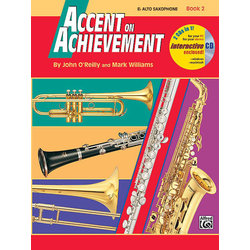 Accent On Achievement Book 2 with CD - Alto Sax