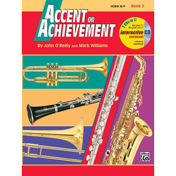 Accent On Achievement Book 2 with CD - F Horn