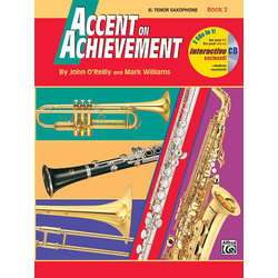 Accent On Achievement Book 2 with CD - Tenor Sax