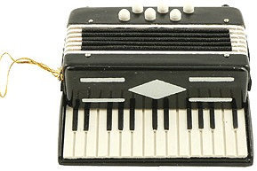 View larger image of Accordian Ornament - Black