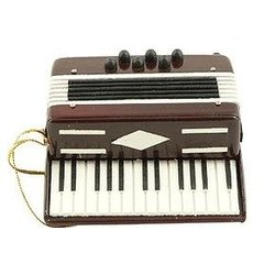 Accordian Ornament - Red