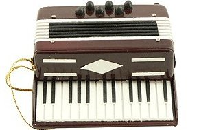 View larger image of Accordian Ornament - Red