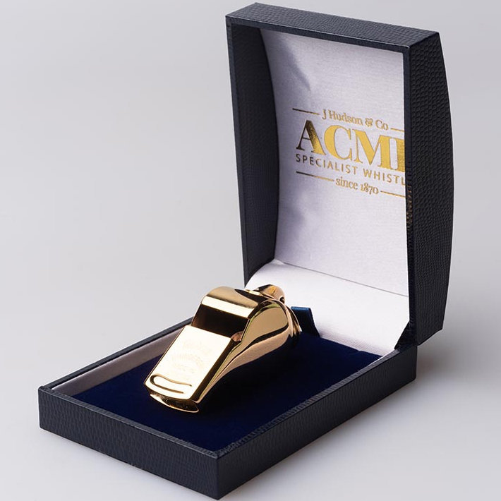View larger image of Acme 58 Thunderer Whistle - Gold Plated