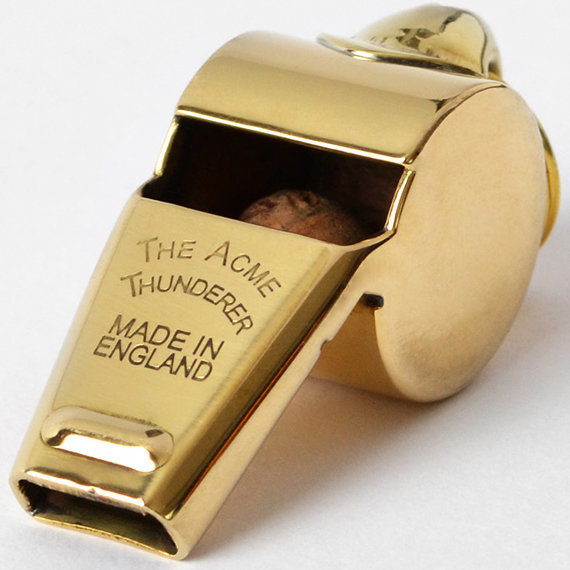View larger image of Acme Thunderer 60.5 Whistle - Gold Plated
