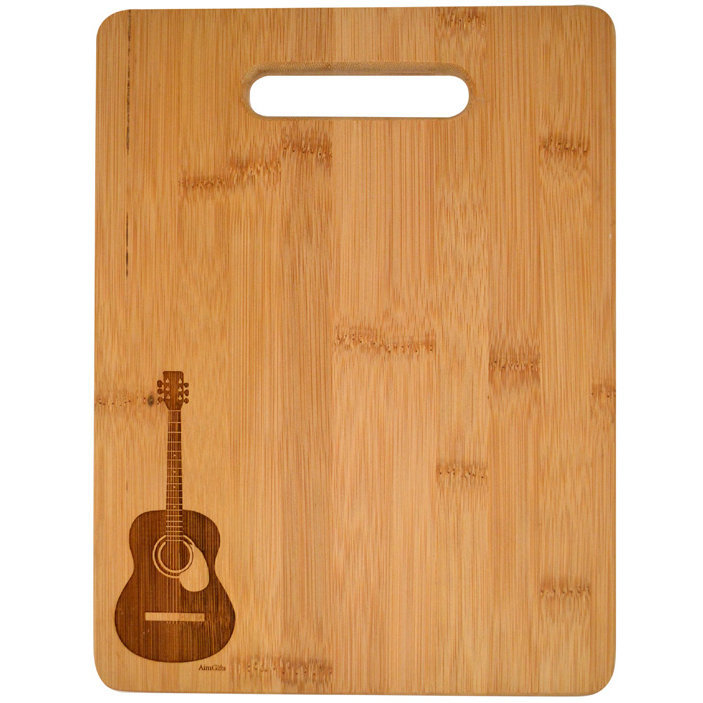 View larger image of Acoustic Guitar Engraved Wooden Cutting Board