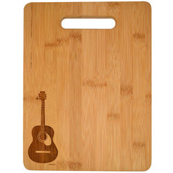 Acoustic Guitar Engraved Wooden Cutting Board