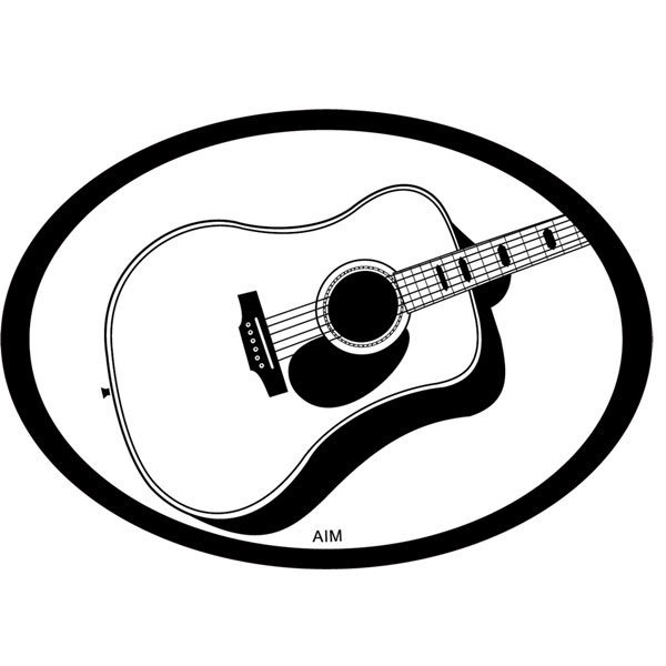 View larger image of Acoustic Guitar Oval Magnet