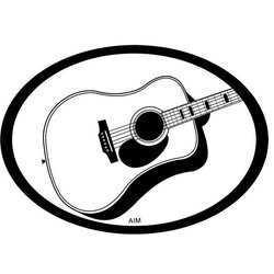 Acoustic Guitar Oval Magnet