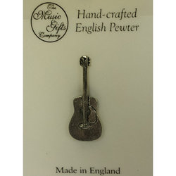 Acoustic Guitar Pin - Pewter