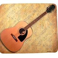 Acoustic Guitar Sheet Music Mouse Pad