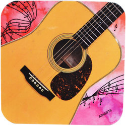 Acoustic Guitar Vinyl Coaster