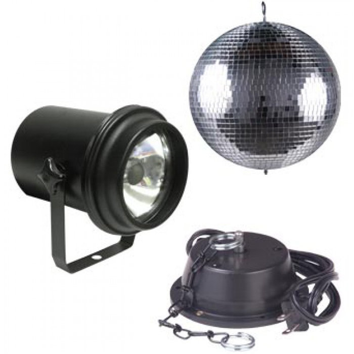 View larger image of ADJ Mirror Ball Package - 16, Motor, Pinspot