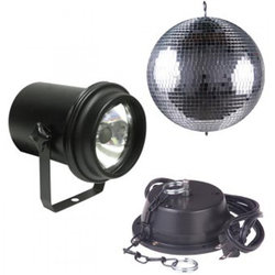 ADJ Mirror Ball Package - 16, Motor, Pinspot