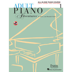Adult Piano Adventures All-in-One Piano Course Book 1 w/Online Media