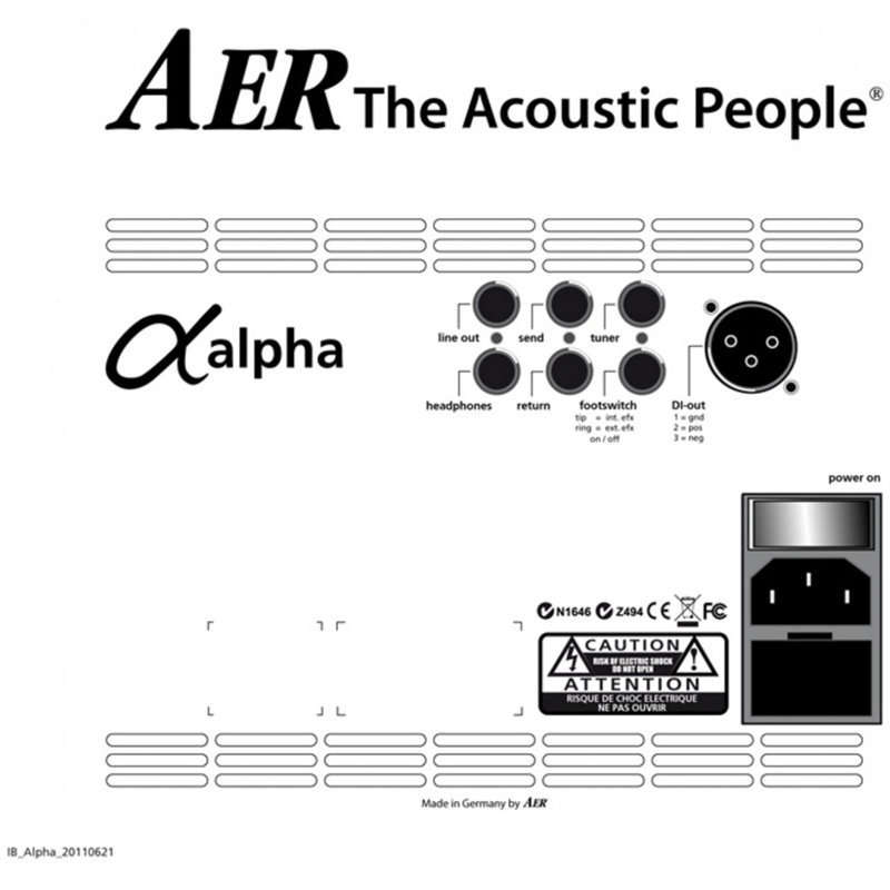 View larger image of AER Alpha Plus Acoustic Guitar Amplifier Combo