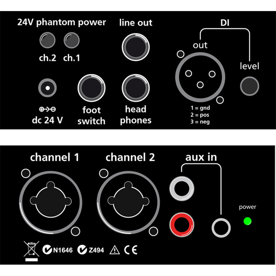 View larger image of AER Dual-Mix 2 Acoustic Guitar Direct Box and Preamp