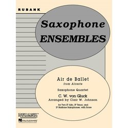 Air de Ballet (from Alceste) - Saxophone Quartet