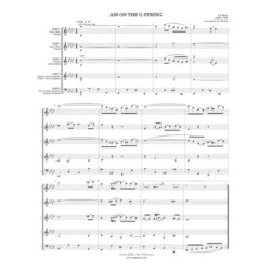 Air on the G String from Orchestral Suite #3 -(Flex Woodwind Ensemble)- Score Only