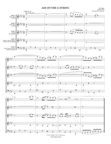 View larger image of Air on the G String from Orchestral Suite #3 - (Flex Woodwind Ensemble)