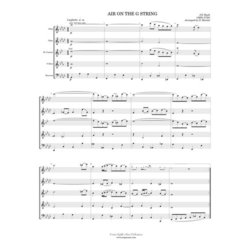 Air on the G String from Orchestral Suite #3 - (Woodwind Quintet)