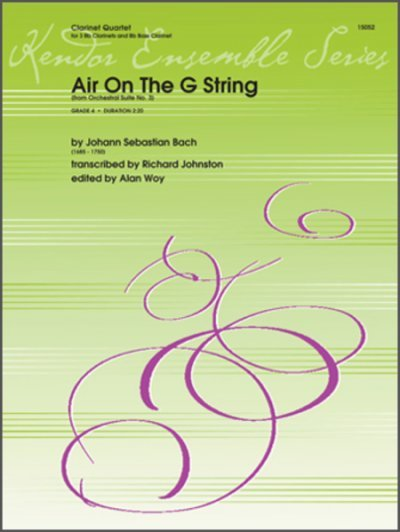 View larger image of Air On The G String (from Orchestral Suite No. 3) - Clarinet Quartet
