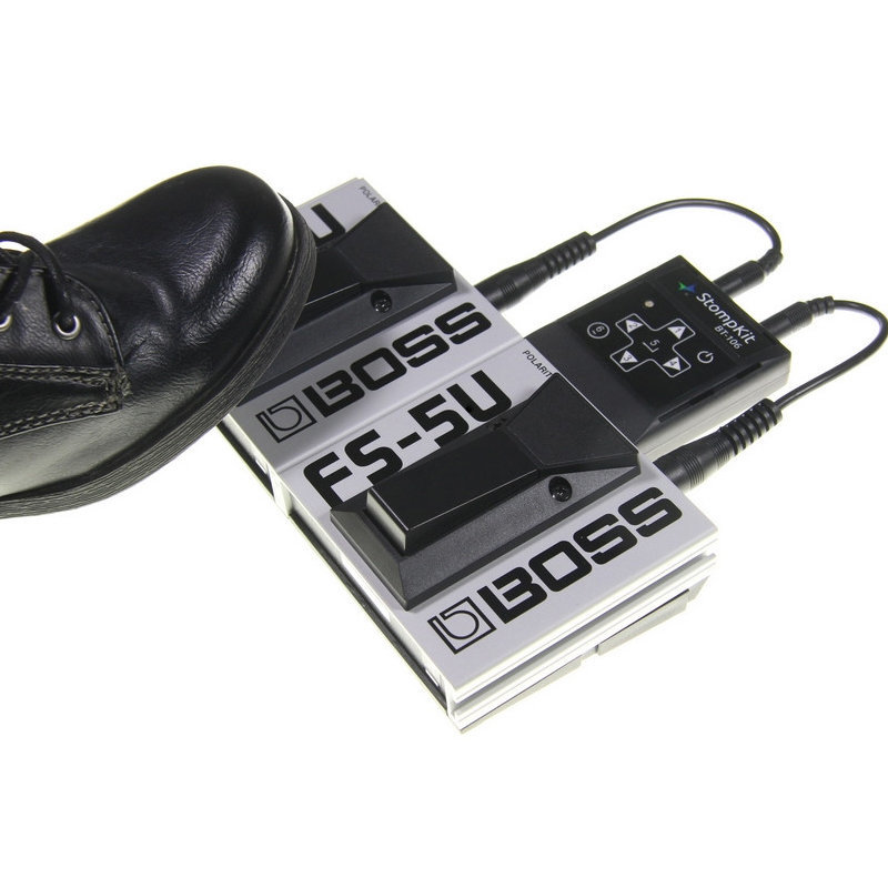 View larger image of AirTurn StompKit with Two BOSS FS-5U Footswitches