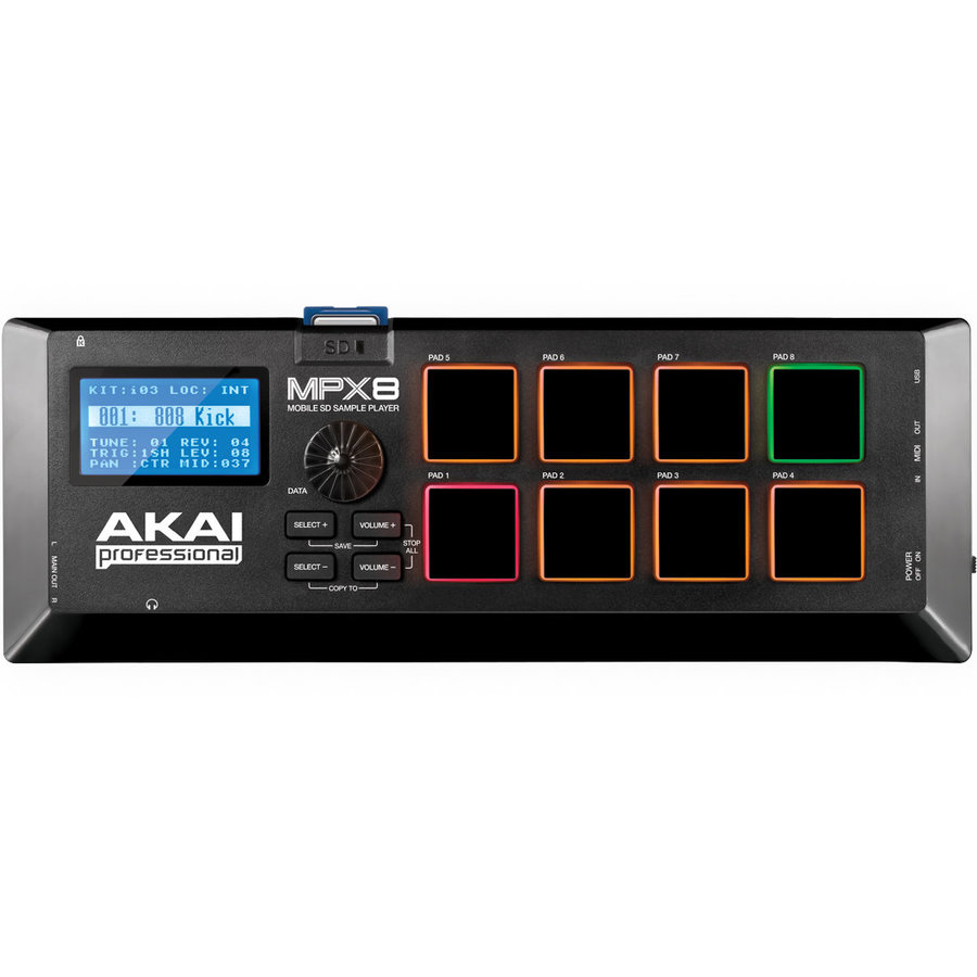 View larger image of Akai Professional MPX8 SD Sample Pad Controller