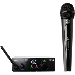 AKG WMS40 Mini Single Vocal Set Wireless Microphone System - A Band