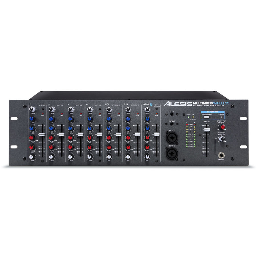 View larger image of Alesis MultiMix 10 Wireless 10-Channel Rackmount Mixer with Bluetooth Wireless