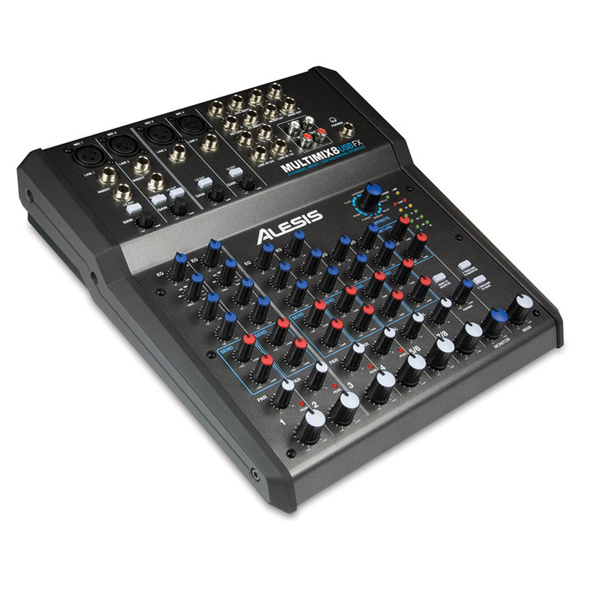 View larger image of Alesis MultiMix 8 USB FX 8 Channel Mixer with Effects/USB Audio Interface