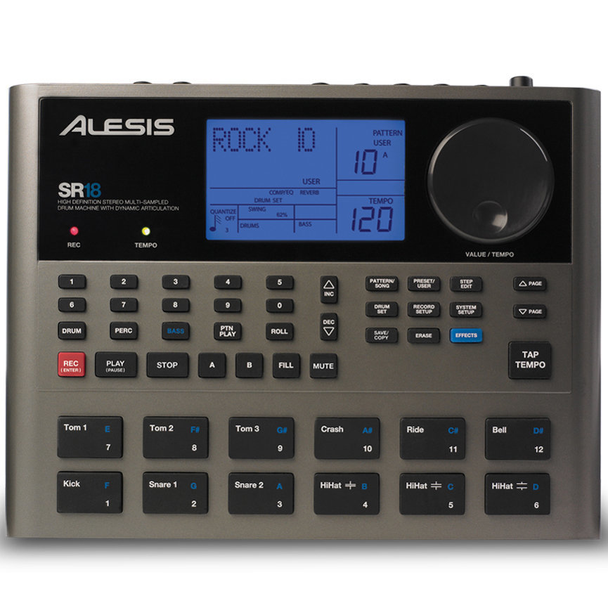 View larger image of Alesis SR18 Portable Drum Machine with Effects