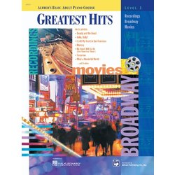 Alfred's Basic Adult Piano Course Greatest Hits, Book 1 w/CD