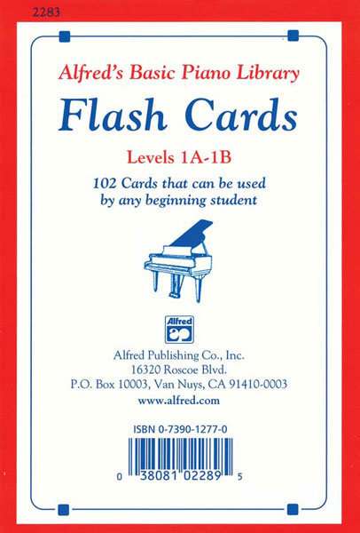 View larger image of Alfred's Basic Piano Library: Flash Cards, Levels 1A & 1B