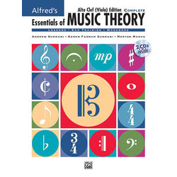 Alfred's Essentials of Music Theory: Complete Alto Clef (Viola) Edition w/2CDs