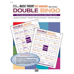 Alfred's Essentials of Music Theory: Double Bingo Game - Key Signature