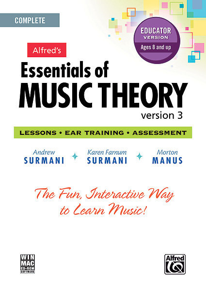 View larger image of Alfred's Essentials of Music Theory: Software, Version 3 CD-ROM Educator Version, Complete Volume