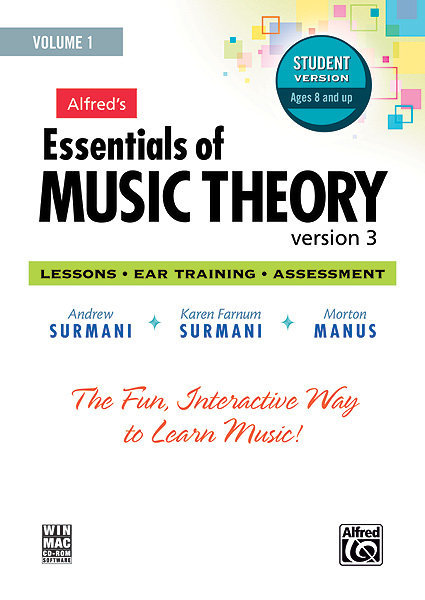 View larger image of Alfred's Essentials of Music Theory: Software, Version 3 CD-ROM Student Version, Volume 1