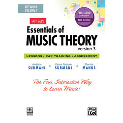 Alfred's Essentials of Music Theory: Software, Version 3 Network Version, Volume 1 (for 5 users)