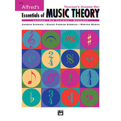 Alfred's Essentials of Music Theory: Teacher's Answer Key w/2CDs